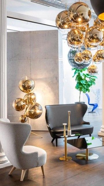 Pin By Hallo On Tom Dixon Melt Lights Interior Design Interior Architecture Gold Chandelier