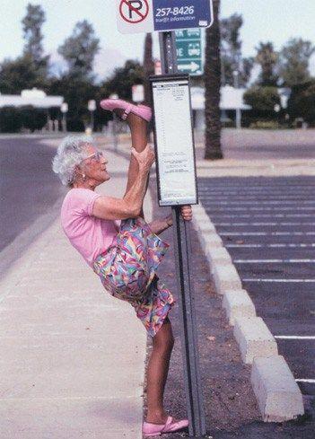 Jong geleerd is oud gedaan  Yoga Grandma #sportief