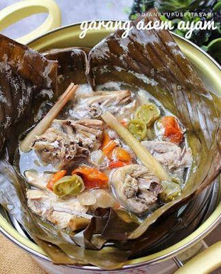 Garang Asem Ayam Makanan Resep Resep Masakan