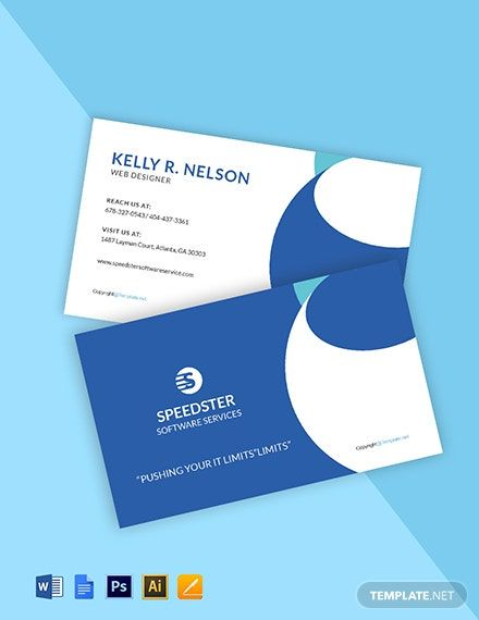 Creative Software Developer Business Card Template Word Psd Apple Pages Google Docs Illustrator Business Card Template Word Google Business Card Business Cards Creative