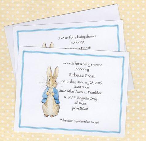Peter Rabbit Invitations Peter Rabbit Girl Boy Baby Shower Nursery