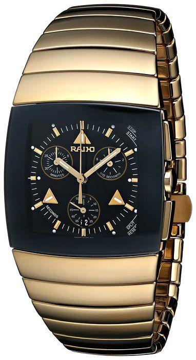 b90d6514d Rado Men's R13872182 Sintra Chronograph Analog Display Swiss Quartz Gold  Watch