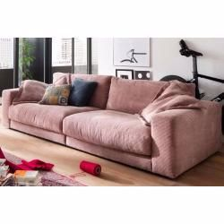 Candy Sofa Seventies 290 Cm Cord Rosa Sitztiefe 64 Cm Ohne Kissen Moebelhaus Remer In 2020 Sofa Extendable Dining Table New Furniture