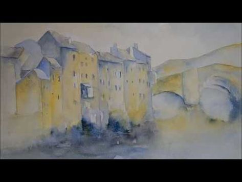 Comment Peindre Un Village Aquarelle Debutant 3 Youtube