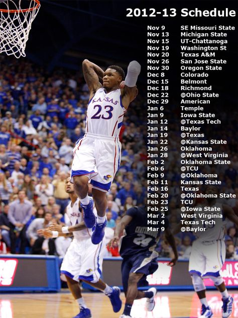 Keep Up With The Games With This Ku Calendar Rcjh