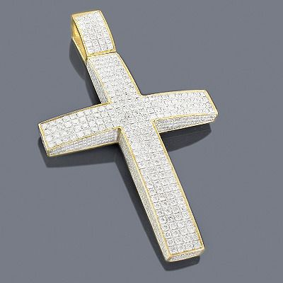 17 best images about on pinterest yellow diamonds round 14k gold iced out mens diamond cross pendant 11ct aloadofball Image collections