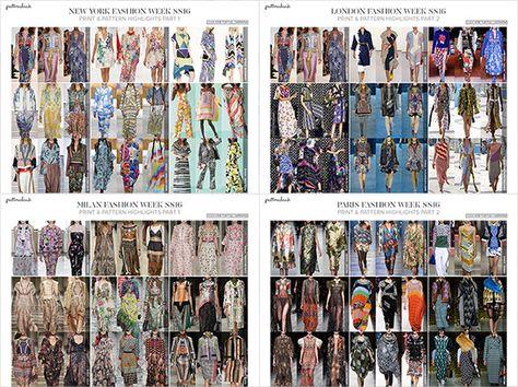 Catwalk Print & Pattern Trend Report Spring/Summer 2016 | Patternbank