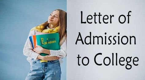 How to Write a Letter of Admission to College? Sample