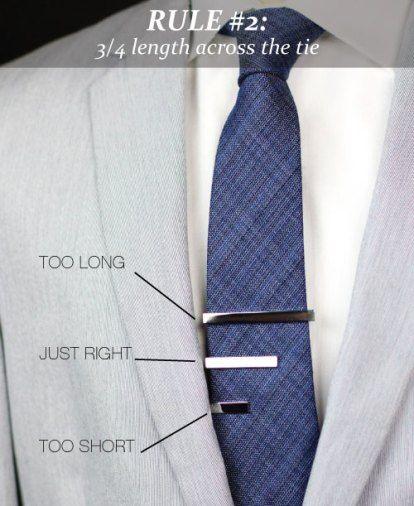 Tie Clip Length | Mens attire, Men style tips, Mens outfits