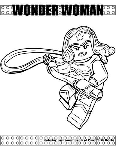 Wonder Woman Lego Da Colorare - Coloring Collection Immagini