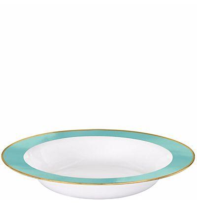 Robin S Egg Blue Border Plastic Bowls 12 Oz 10 Ct Plastic