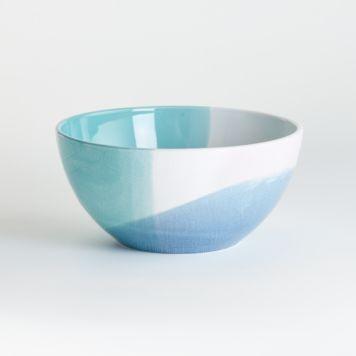 Maci Mixing Bowls Crate And Barrel In 2020 Ceramic Mixing Bowls Ceramic Canisters Bowl
