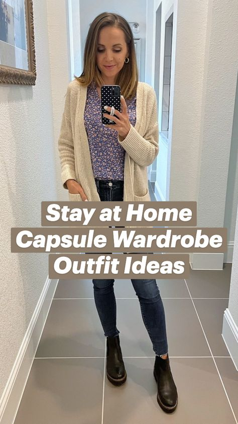 Stay at Home Capsule Wardrobe Outfit Ideas