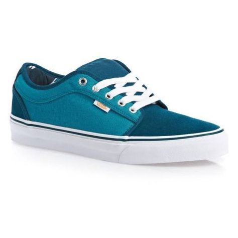 9883c5efab4604 VANS Chukka Low (80 s Box) Teal Suede Blue Men s Skate Shoes Size 10 (705  EGP) ❤ liked on Polyvore featuring men s fashion
