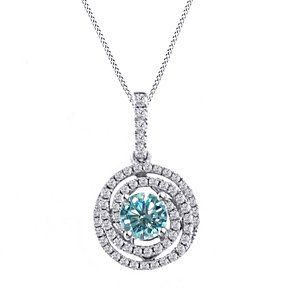 Round D/VVS1 Sterling Silver Paw Pendant Necklace w/Chain 18 Diamond Jewelry & Watches