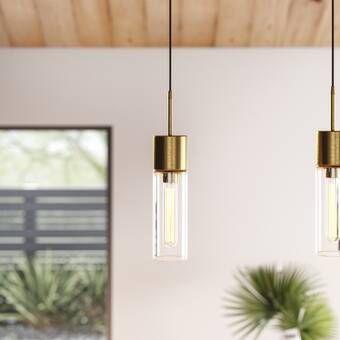 Kaitlynn 2 Light Kitchen Island Geometric Led Pendant Single Pendant Lighting Bathroom Hanging Lights Modern Bathroom Lighting