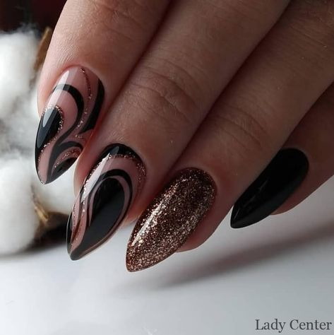 31 + Most Beautiful and Popular Almond Studded Nail Designs, 31 + Most Beautiful and Popular Almond Studded Nail Designs - 1 Almond nails are full of creativity, and patterns and colors suitable for other design..., #almond #beautiful #Nail #popular,