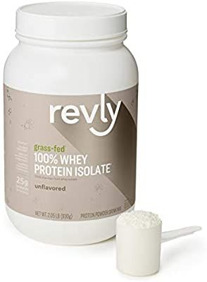 Amazon Com Amazon Brand Revly 100 Grass Fed Whey Protein Isolate Powder Unflavored 2 05 Pou In 2020 Grass Fed Whey Protein Unflavored Whey Isolate Protein Powder