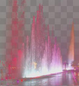 噴水の明かり 噴水 キラキラ 舞台照明