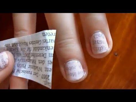 Einfaches Zeitungs-Nägel Tutorial (mal anders) - YouTube