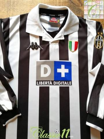 1998 99 Juventus Home Football Shirt Xl Football Shirts Juventus Football