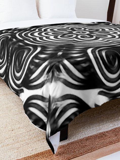 Boho Tiles Pattern 31: Symmetrical bohemian tile design for good vibes. #comforter #bohocomforter #bedroomcomforter #blackandwhitecomforter #beddingideas #masterbedroomideas #bedideas #cr6zym1nd #findyourthing