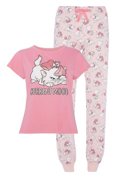 Disney Aristocat Marie Character Senoras Pantalones Cortos De Pijama Ropa De Dormir Para Mujer Primark Control Ar Com Ar