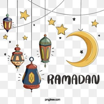 Ramadan Festival Elements In Hand Drawn Style Ramadan Moon Cartoon Png Transparent Clipart Image And Psd File For Free Download