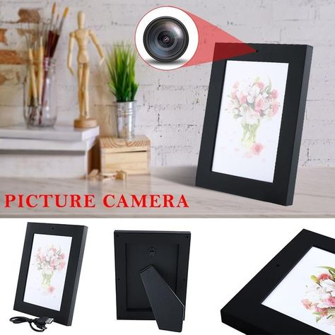 720p Hd Photo Frame Hidden Spy Camera Easy Use Security Camera Cam