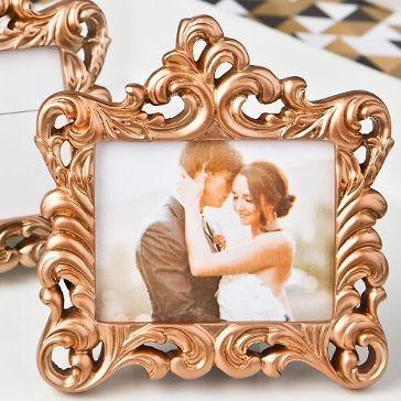 Mini Fotorahmen Barock Kupfer 9 X 9 5 Cm Platzkartenhalter Fotorahmen Hochzeit Shop