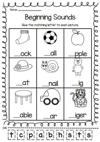 Worksheets Printable Grade K In 2020 Phonics Kindergarten Beginning Sounds Worksheets English Worksheets For Kindergarten