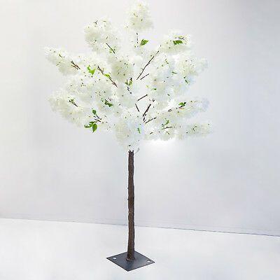 Silk Artificial Blossom Trees Centrepiece 140cm 5 Colours Wedding Decor Ebay White Blossom Tree Tree Centerpieces Blossom Trees