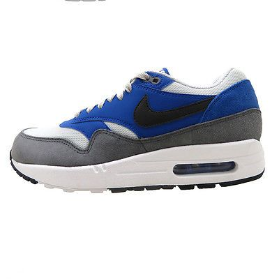 watch 5baf0 3bc23 Nike Air Max 1 Essential Mens 537383-404 Cobalt Blue Grey Running Shoes  Size 7