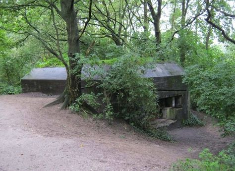 German bunker, Leusden.   We used to play here as kids back then it was still open. They have closed up the inside now.