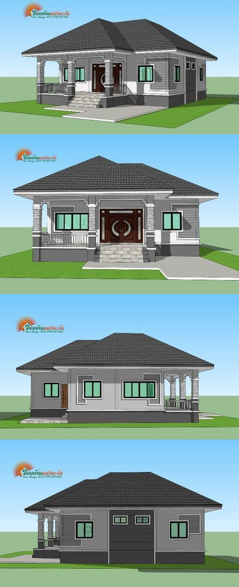 For Those On A Budget Elegant 3 Bedroom Single Storey House Ulric Home In 2020 Affordable House Plans Modern Bungalow House Plans Bungalow Style House Plans