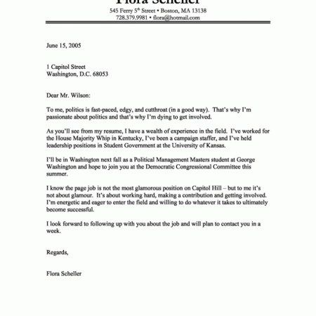 Best Cover Letter Samples Professional Writing