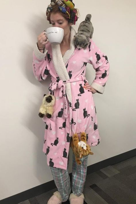 Never Too Late to Get a Halloween Costume - Here's 37 Quick and Easy DIY Ideas Crazy Cat Lady - Tap the link now to see all of our cool cat collections!Crazy Cat Lady - Tap the link now to see all of our cool cat collections!