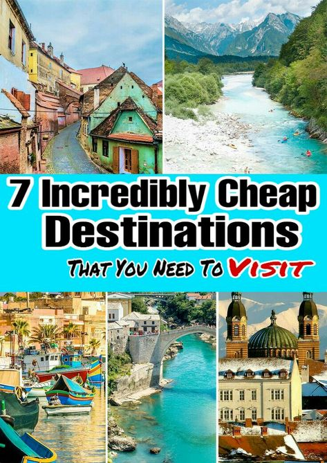 The easiest way  is to go to cheap countries! The ones listed  here are all among the  cheapest places to travel, offering not  just great  value  but also some  of  the world's   greatest  sights and experiences.  Which cheap  countries in the world  offer the most value?  that will allow  you to go for longer, enjoy a higher standard, and save  more  money? The following are 7 cheapest destinations around  the  world  that offer the essentials accommodation, transportation, and  food.