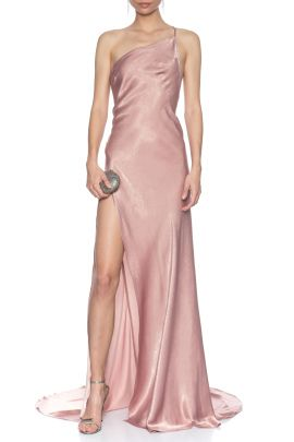 Rose Saten Elbise By Lexi Evening Gown 2020 Aksam Elbiseleri Elbise Uzun Elbise