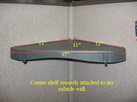 Add Some Cubicle Storage With A Hanging Corner Shelf Unit