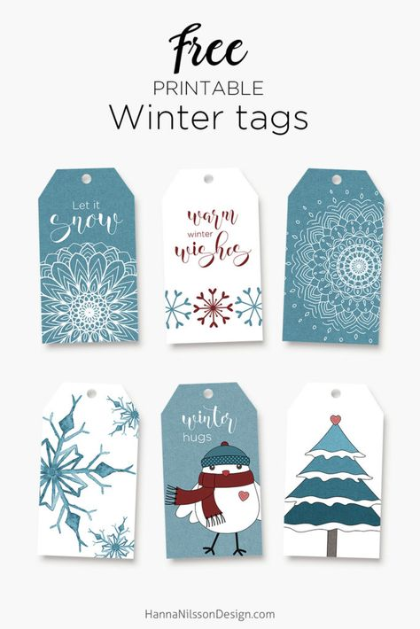 Free Printable Winter Gift Tags | Hanna Nilsson Design