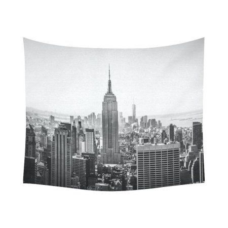 Gckg Nyc New York Skyline Cityscape Tapestry Wall Hanging Black And White Empire State Building Wall Decor Art F Tapestry Wall Hanging Tapestry Living Room Art
