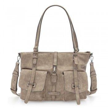 Tamaris Damen Tasche Bernadette Shopper Mauve (beige rosa