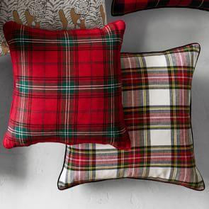 Classic Tartan Pillow Cover, RedChili
