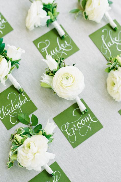 Boutonnieres for a Classic, Summer Wedding