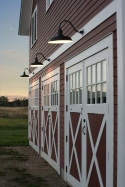 Gooseneck Warehouse Shades for Classic Red Vermont Barn | Horse ...