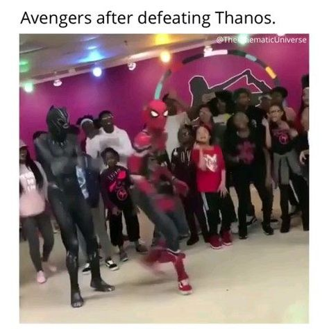 The Avengers after defeating Thanos in Endgame !!!!!