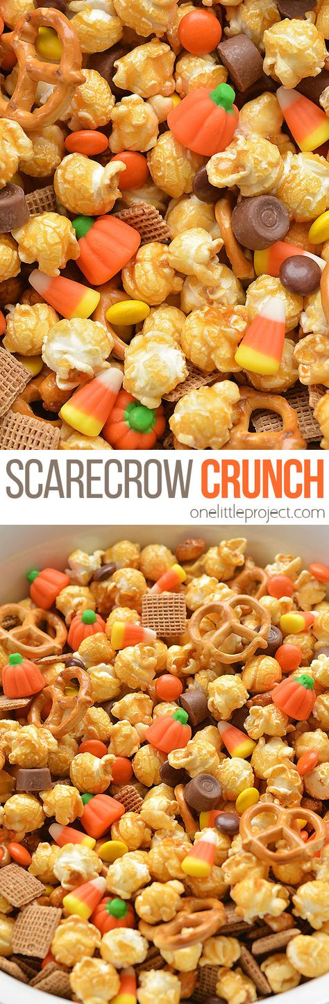 Scarecrow Crunch Snack Mix You are going to fall in love with these crispy fried pickles! Snack Mix Recipes, Fall Recipes, Holiday Recipes, Cooking Recipes, Snack Mixes, Christmas Desserts, Christmas Holidays, Dinner Recipes, Looks Halloween
