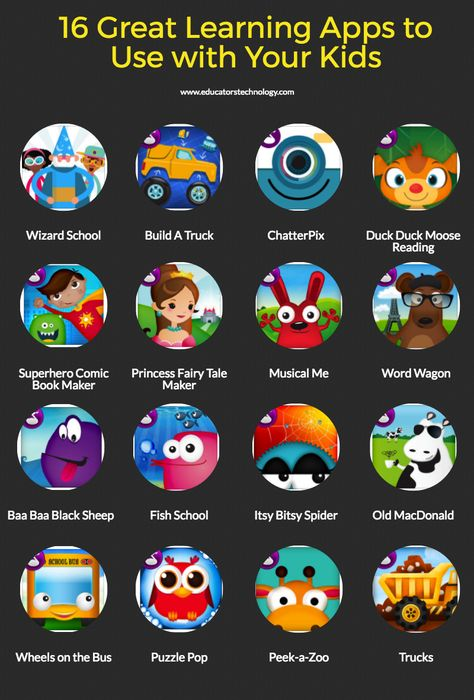 16 great learning apps to use with your kids apps for teachers, learning apps, Learning Websites For Kids, Apps For Teachers, Learning Apps, Mobile Learning, Preschool Learning, Lessons For Kids, Learning Activities, Teaching Kids, Special Education Classroom