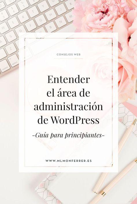 Entender el área de administración de WordPress